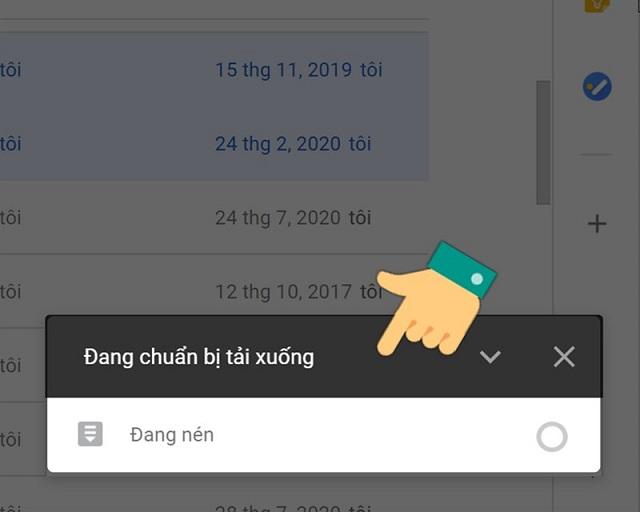 Chờ đợi tải file từ Google Drive về máy tính
