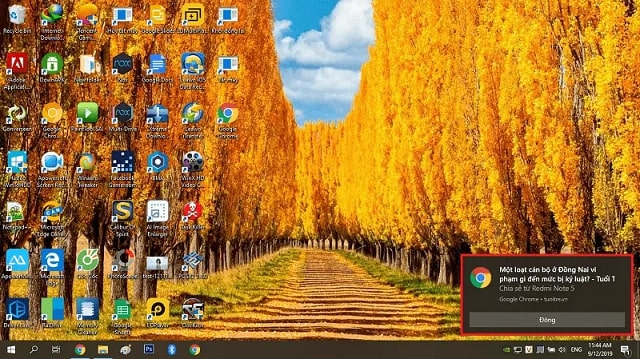 Quảng cáo xuất hiện ở góc phải màn hình máy tính