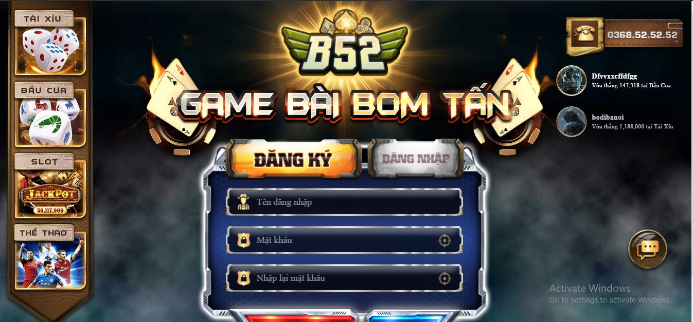 Trò chơi đánh bài trả thưởng số một ở Việt Nam - B52 Club